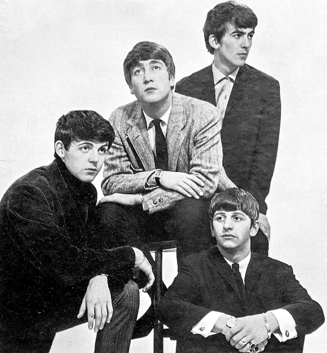Just #TheBeatles at an early photo shooting in 1963