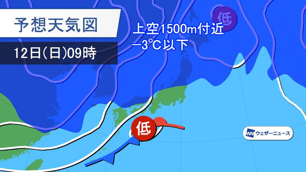 今週末、11日(土)から13日(月)成人の日にかけての三連休は、中日の12日(日)に南岸低気圧が通過して広く天気が崩れます。寒気の流れ込みは北日本どまりで、東京など関東南部は雪ではなく雨になる見込みです。