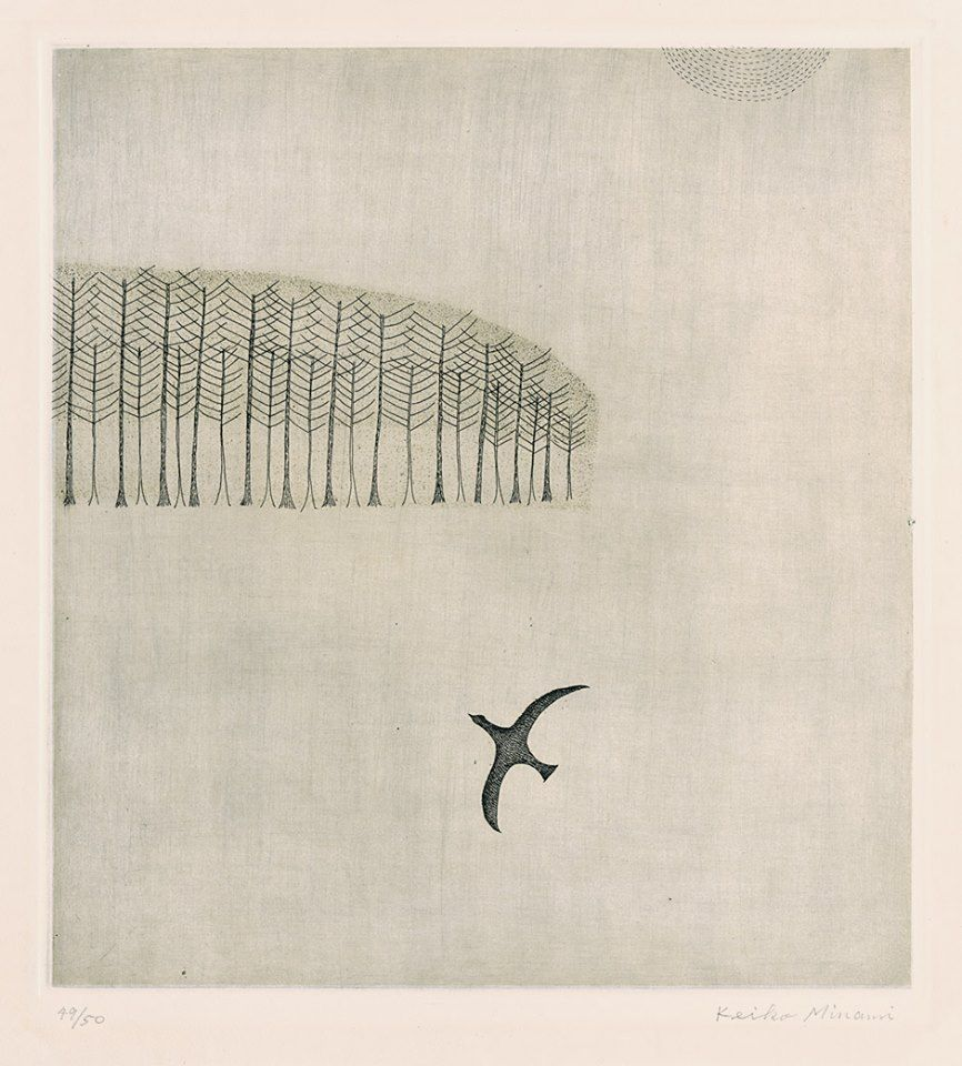 Winter, 1955 by Japanese artist and poet Keiko Minami #womensart
