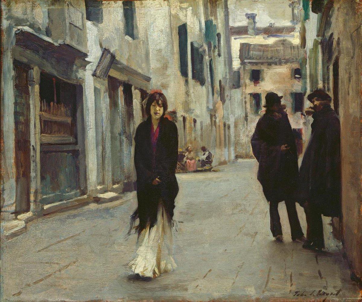 John Singer Sargent, Street in Venice, 1882.