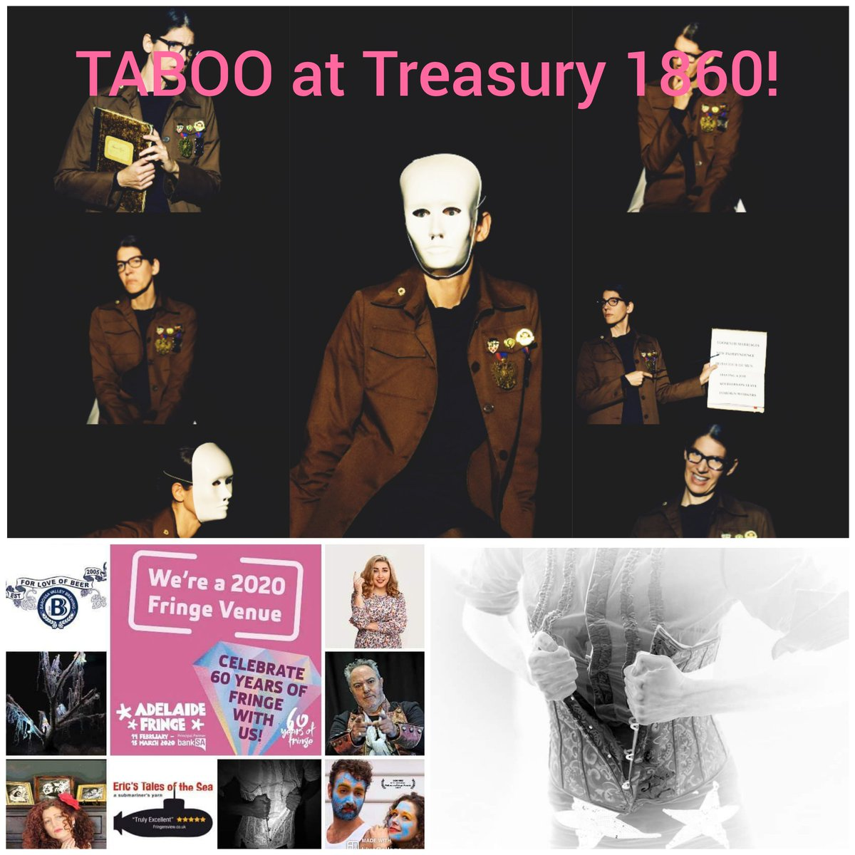 18th Feb - 4th March 2020 at #treasury1860 !!! I am super excited to be performing with the wonderful Anna Thomas at #adelaideFringe this year 🎭 https://t.co/b1laVmsXRY