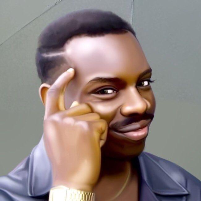 картинка черный парень с пальцем у виска