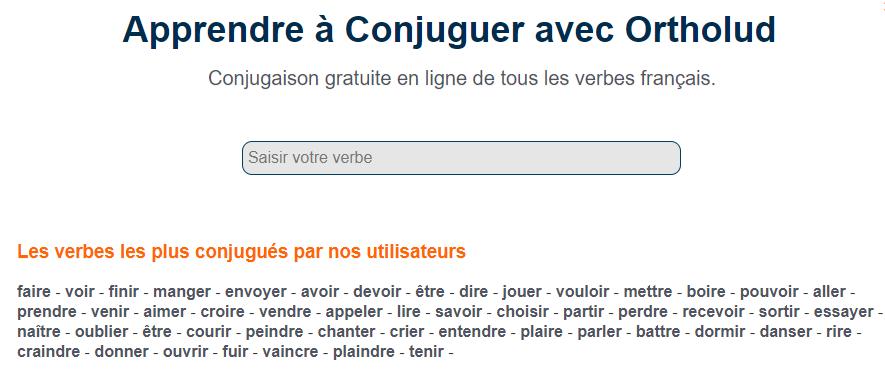 Ortholud Com On Twitter Н—–𝗼𝗻𝗷𝘂𝗴𝘂𝗲𝘇 Н—¹ð—² ͘ƒð—²ð—¿ð—¯ð—² Н—±ð—² ͘ƒð—¼ð˜ð—¿ð—² Н—°ð—µð—¼ð—¶ð˜… ͘€ð˜'𝗿 Н—¢ð—¿ð˜ð—µð—¼ð—¹ð˜'𝗱 Conjugaison Gratuite En Ligne De Tous Les Verbes Francais Https T Co Rtu8ncvxnp Https T Co Jbcq3zcgyc