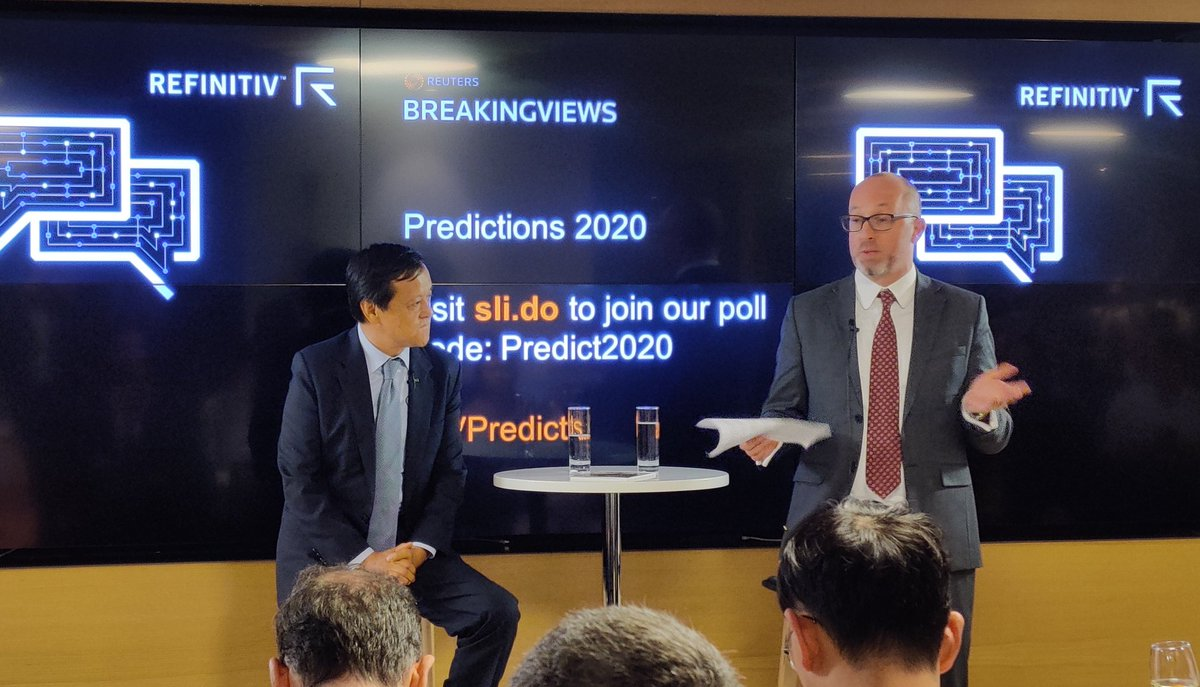 And we're off! #bvpredicts 2020: @petesweeneypro speaks with @HKEXGroup CEO Charles Li https://t.co/kF69fF3R4U
