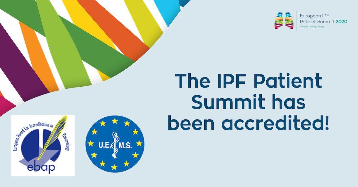 The #EACCME and #EBAP have accredited the European IPF Patient Summit! Register to the Summit and get your credits! euipfsummit.org/scientific/