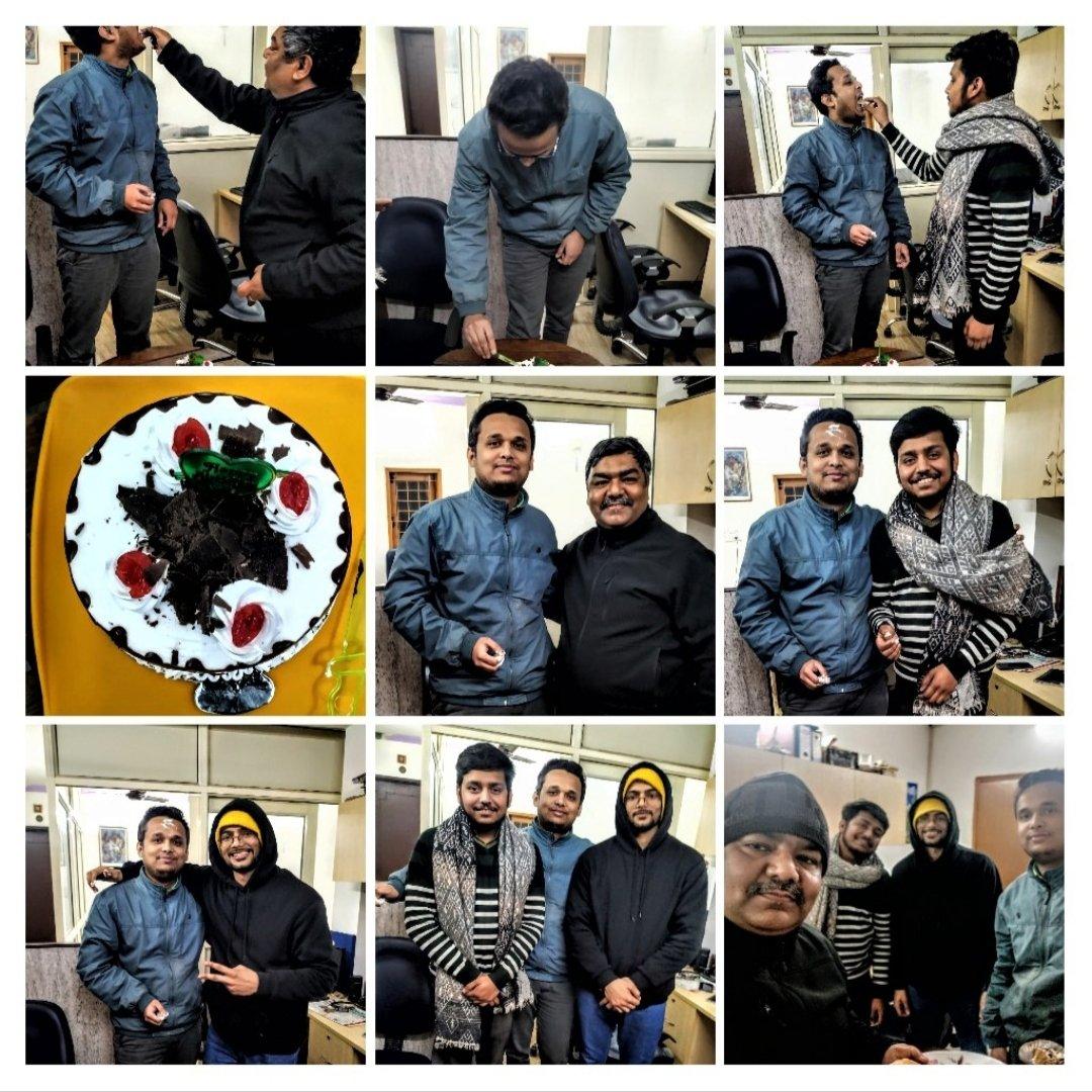 A little birthday celebration in the office today.  #bday #bdaycake #bdayboy #celebrationinoffice #partyatwork #sristicommunications #sristipr #GoodDaypic.twitter.com/vZCzFITq4g