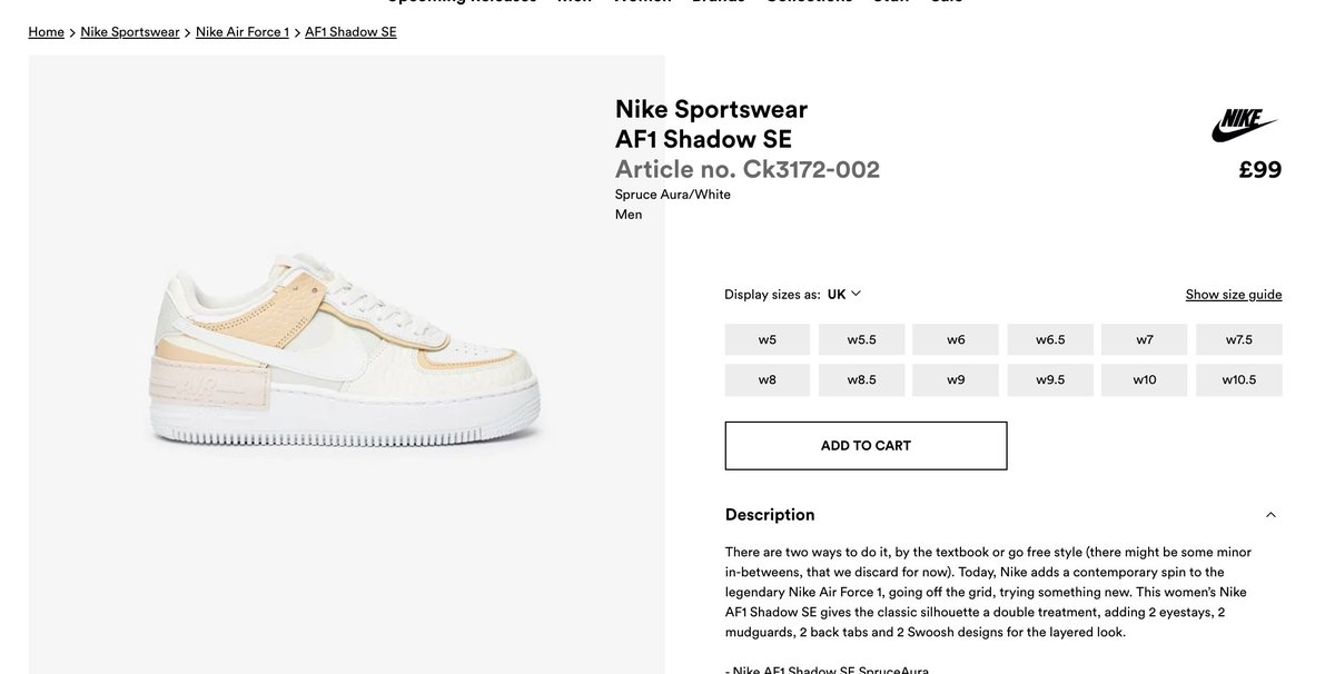 Nike Air Force 1 Shadow W 'Spruce Aura