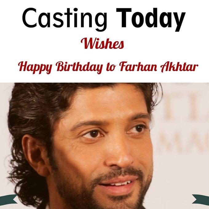 Here\s wishing the talented Farhan Akhtar a very happy birthday! Kaisar Ali and Team.