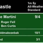 12:45 @NewcastleRaces  1st Double Martini 9/4 2nd Lukoutoldmakezebak 10/1 3rd Curfewed 3/1  A Win for @rogerfell22 and @benacurtis  Full Results here: https://t.co/bZ2t8elhal #HorseRacing #Results