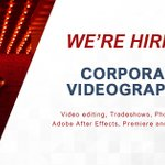 Image for the Tweet beginning: We're #hiring a Videographer! Interested