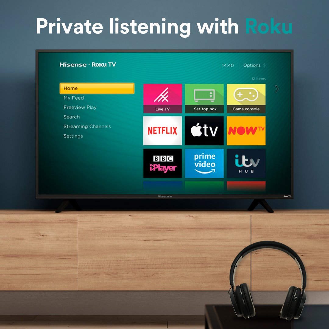 Sssh 🤫  Roku UK app + 🎧 = hear every detail without disturbing the house  Get the Hisense B7120 today 👉 http://bit.ly/Hi-B7120