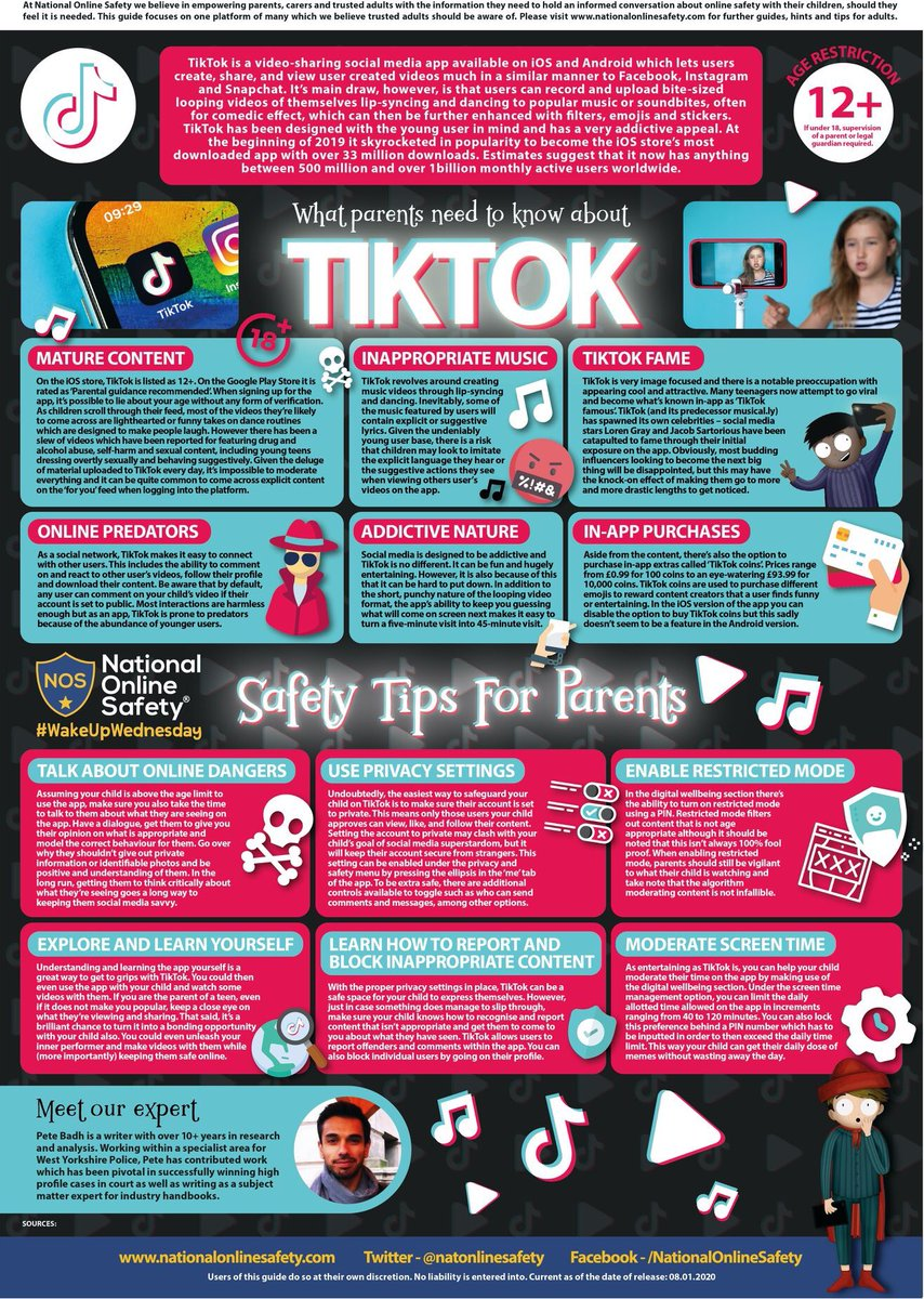 RT <a target='_blank' href='http://twitter.com/KwbHealthyMinds'>@KwbHealthyMinds</a>: Safety Tips for TikTok <a target='_blank' href='https://t.co/wwfkvSG928'>https://t.co/wwfkvSG928</a>