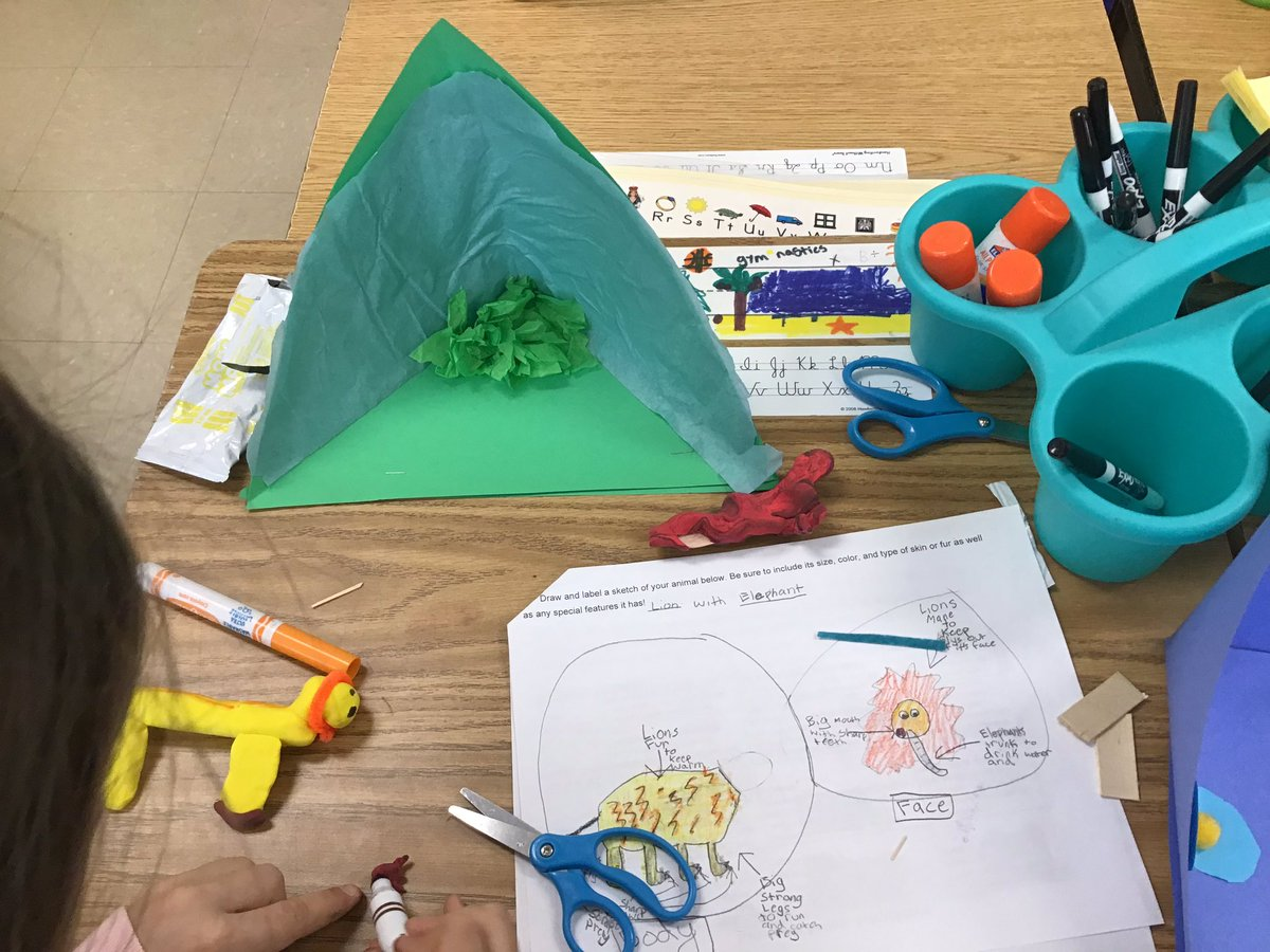 Ss love using <a target='_blank' href='http://search.twitter.com/search?q=makerspace'><a target='_blank' href='https://twitter.com/hashtag/makerspace?src=hash'>#makerspace</a></a> materials from the library to create their animal with adaptations. <a target='_blank' href='http://twitter.com/APSMcKCardinals'>@APSMcKCardinals</a> <a target='_blank' href='http://twitter.com/McKinleyReads'>@McKinleyReads</a> <a target='_blank' href='https://t.co/Xc4lVIrbxW'>https://t.co/Xc4lVIrbxW</a>