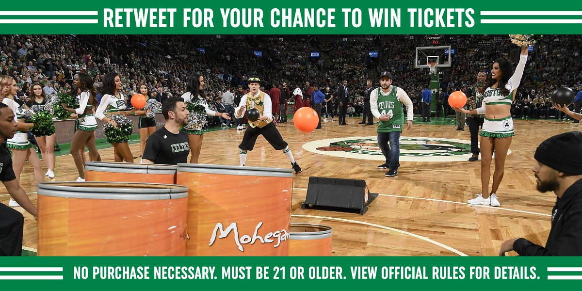 Be at TD Garden when we play New Orleans this weekend! RT to enter to win 2 tickets and play @MoheganSun Super Skee Ball on the parquet floor!   Official rules: