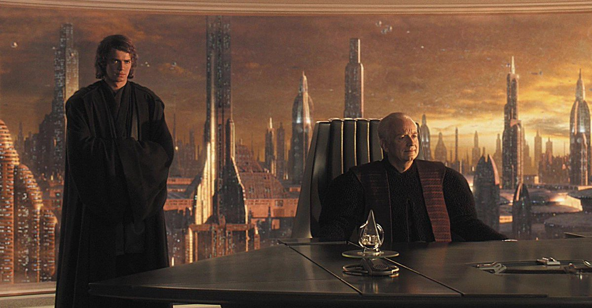 S T E V E N The Fandom Menace Illustrator On Twitter One Of The Best Shots In Revenge Of The Sith To Bad This Scene Was Cut From The Movie