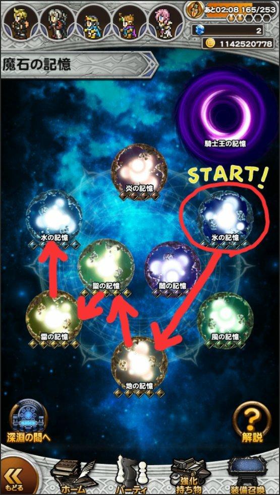 Yukky婆さんは、なかなかカオスな攻略順を辿っているようで...()#FFRK #あなたの星6魔石どこから
