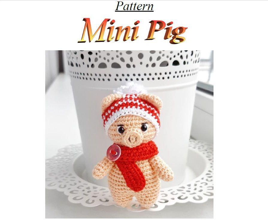 amigurumi pig tutorial - crochet pig - YouTube | 735x895