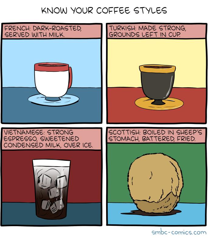 Coffee Styles smbc-comics.com/comic/coffee-s… (click for bonus panel) #smbc #hiveworks