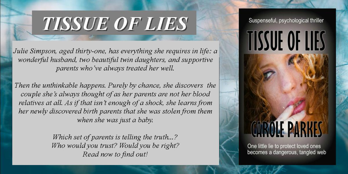 <br>http://pic.twitter.com/midGQ2MvKK FAKE PARENTS!  Imagine finding out the parents you've always thought were your own STOLE YOU. What happens next is a suspenseful roller-coaster ride.  http:// myBook.to/TOL     #MysteryDrama #PsychologicalThriller