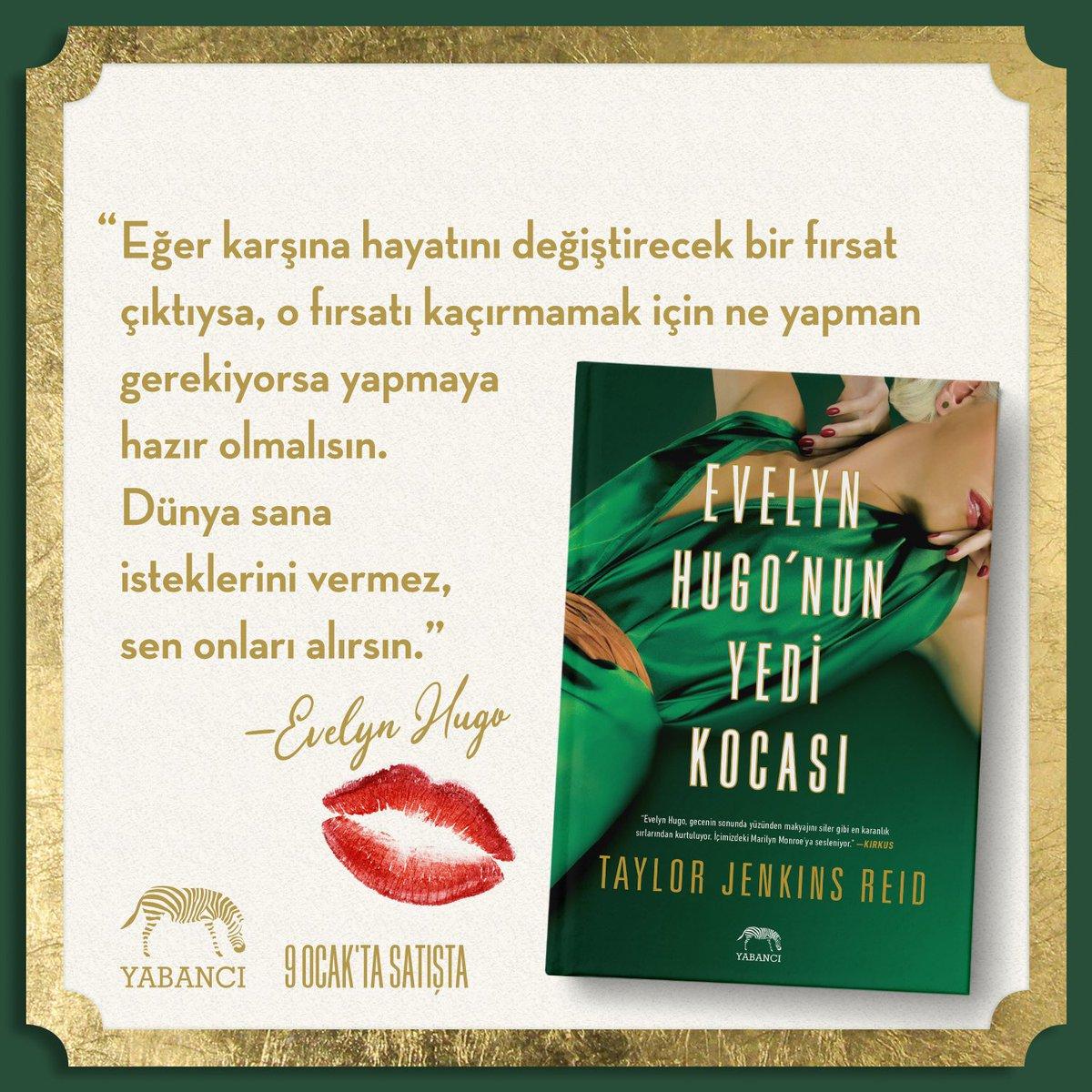 Evelyn Hugo'nun Yedi Kocası, bugünden itibaren tüm kitapçılarda! #evelynhugonunyedikocası #yabancıyayınları #taylorjenkinsreid pic.twitter.com/X4fcwsO3Z0