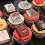 Image for the Tweet beginning: When a bookworm bakes cupcakes...  🎂📚💕  #amwriting