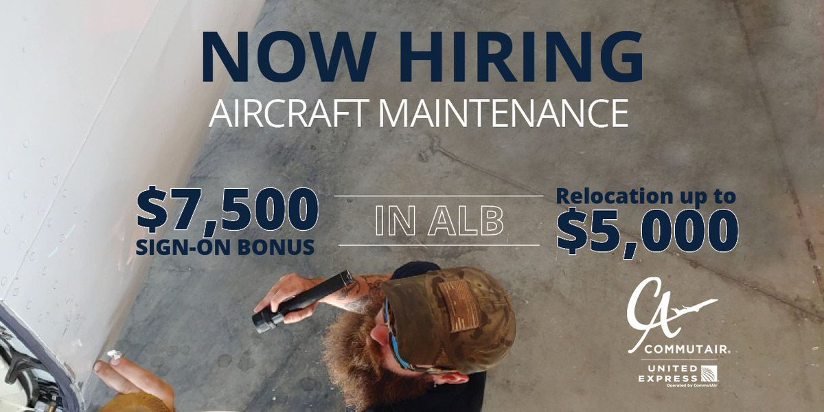 ATT: A&P Techs! Nows your chance to put that license to good use! C5 is hiring aircraft maintenance in Albany. Commit to 2 years, get big fat $7,500 sign-on bonus! Learn more about our maintenance department: buff.ly/2kVutnB #NOWHIRING #SignOnBonus