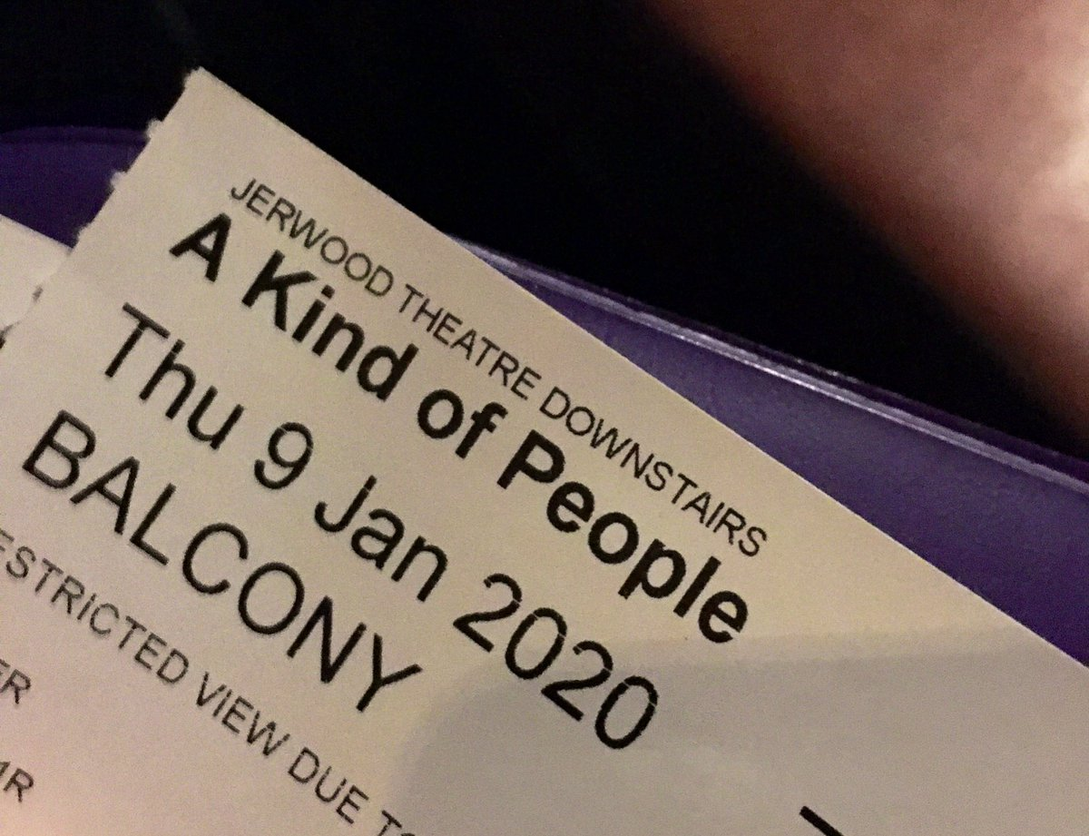First theatre of 2020 #AKindOfPeople @royalcourt