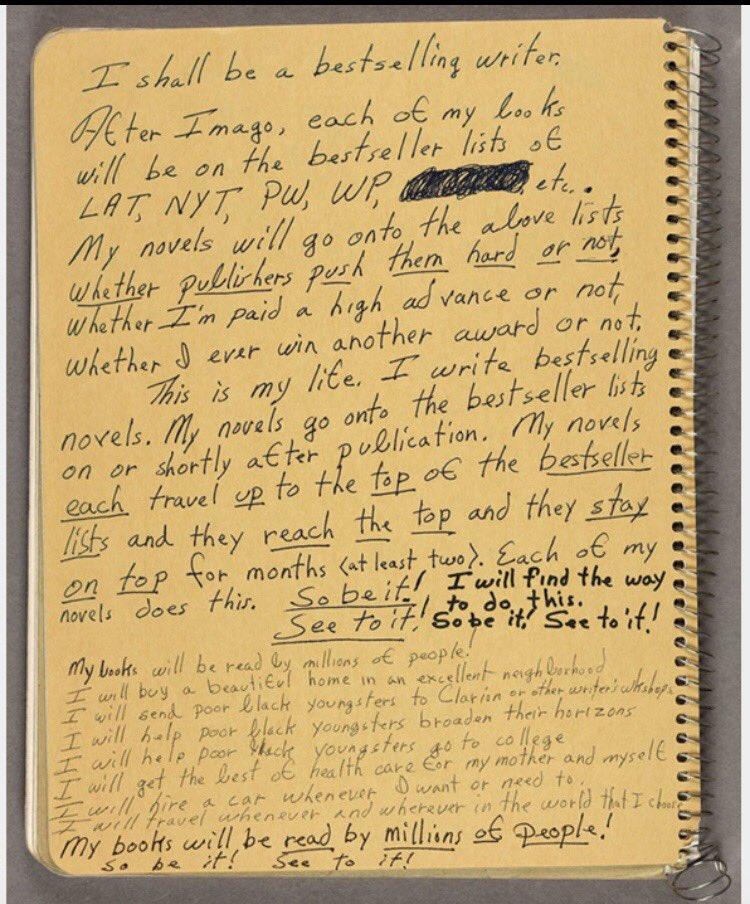 Dare to dream, and dream big. Octavia Butler's note to self, 1988.