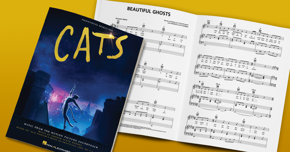 @catsmovie reimagined @OfficialALWs beloved musical for the big screen. Were now happy to present the matching folio for the @UniversalPics film, featuring Taylor Swifts mesmerizing new hit, Beautiful Ghosts! bit.ly/CATSPianoVocal