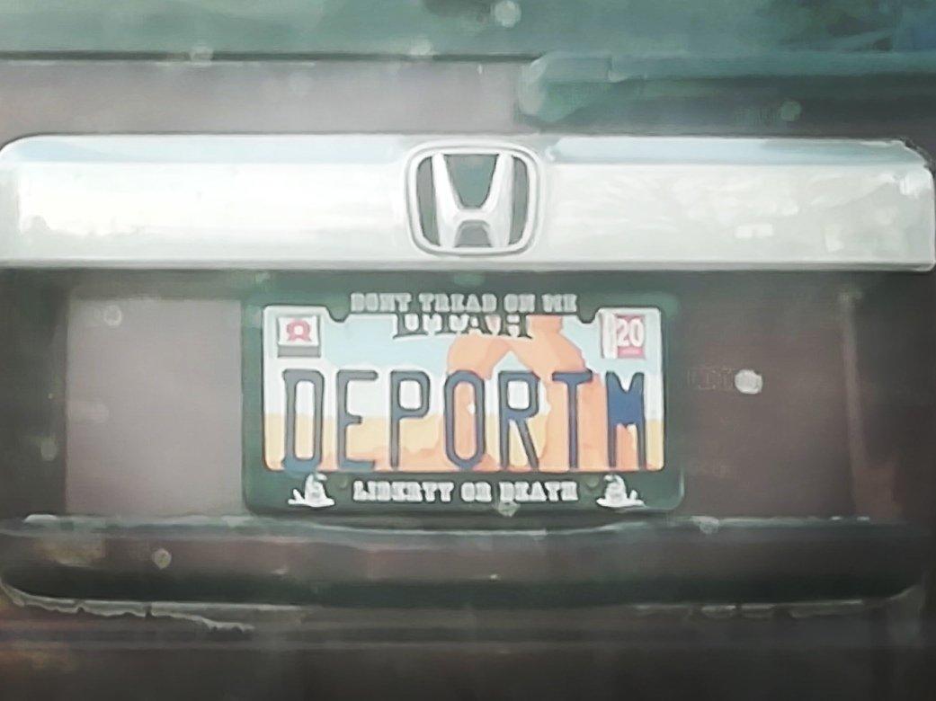Utah scrutinizes vanity license plates after ?DEPORTM? uproar