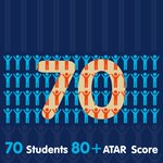 Image for the Tweet beginning: 70 students received 80 and