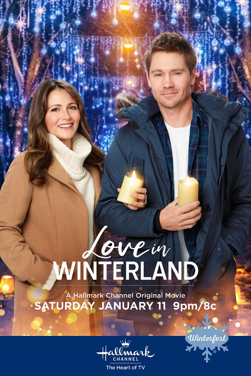 The newest @HallmarkChannel #Winterfest key-art posters are just as gorgeous as the previously released ones. I can't wait for #LoveinWinterland this weekend! These movies really make the transition from the holiday season easier! #StayMerry pic.twitter.com/mkDXf9ha2F