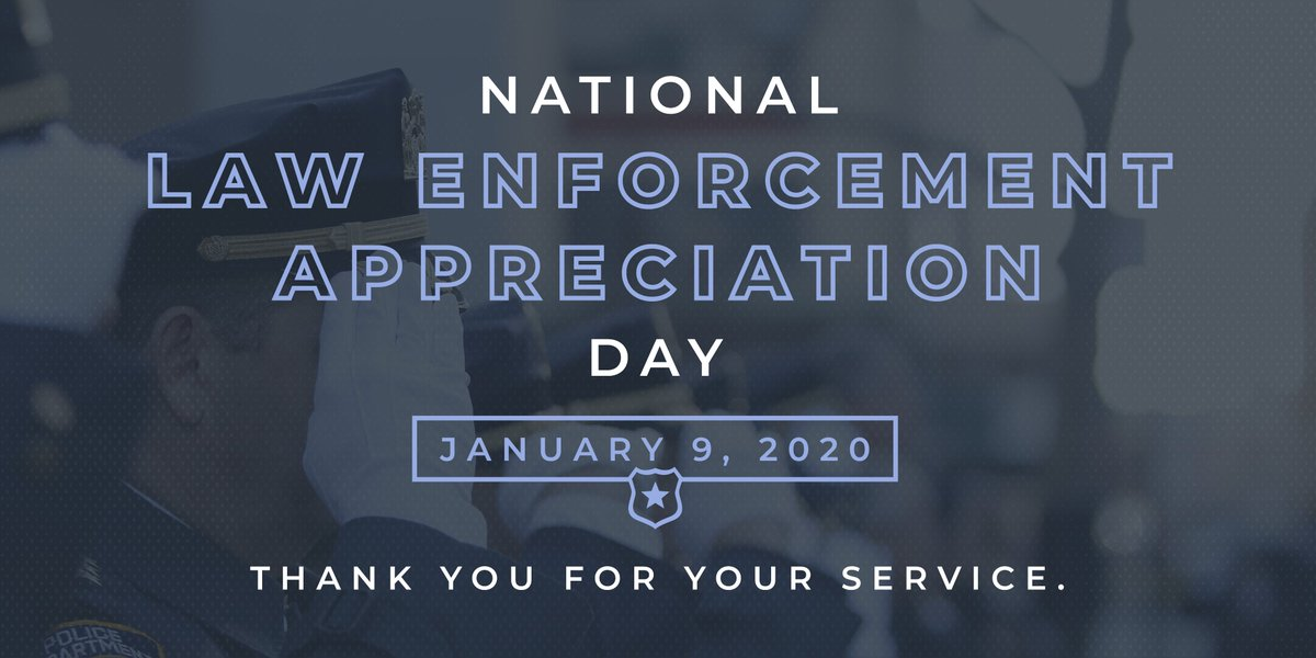 Today is #NationalLawEnforcementAppreciationDay and I wanted to take a moment and honor all law enforcement officers, especially our Kentuckians in uniform and their families. Thank you for your service.