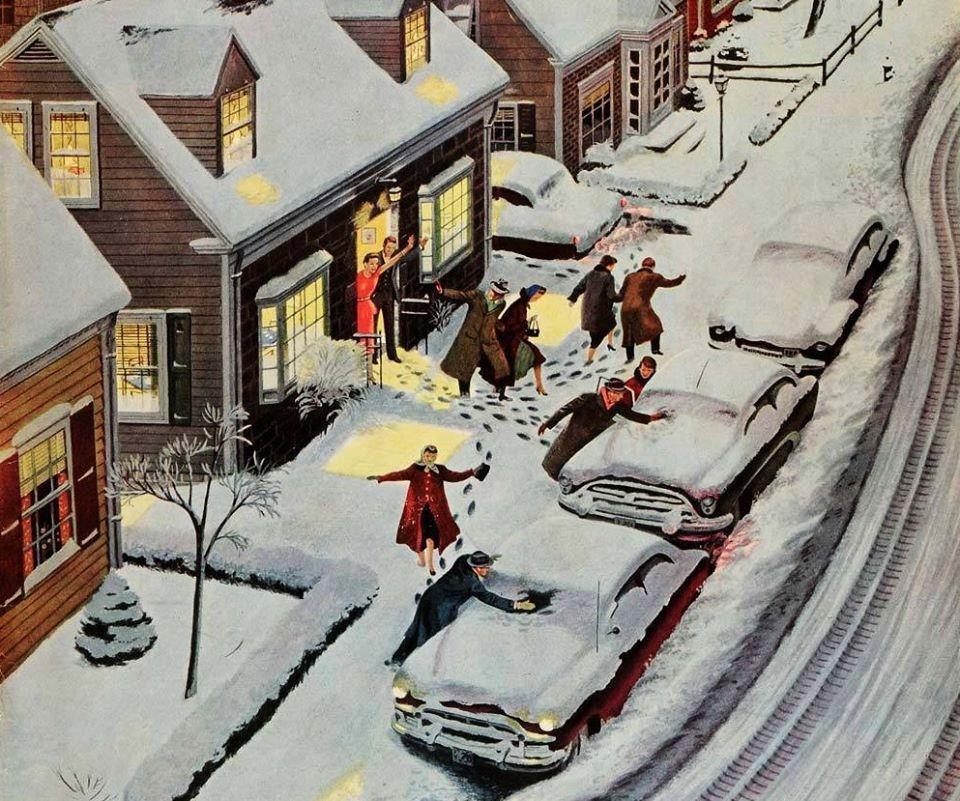 Ben Kimberly Prins, Party After Snowfall, , 1955 .