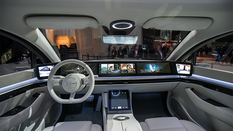 Step inside the Sony Vision-S prototype vehicle announced at #CES2020 #SonyCES http://bit.ly/VisionSbySony