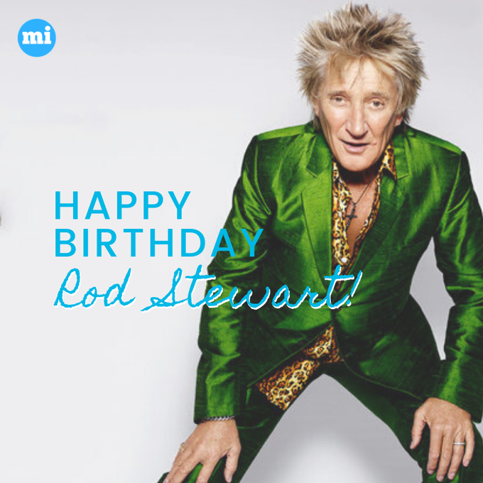 Happy birthday to one of the classic rockstars in the 80s, Rod Stewart