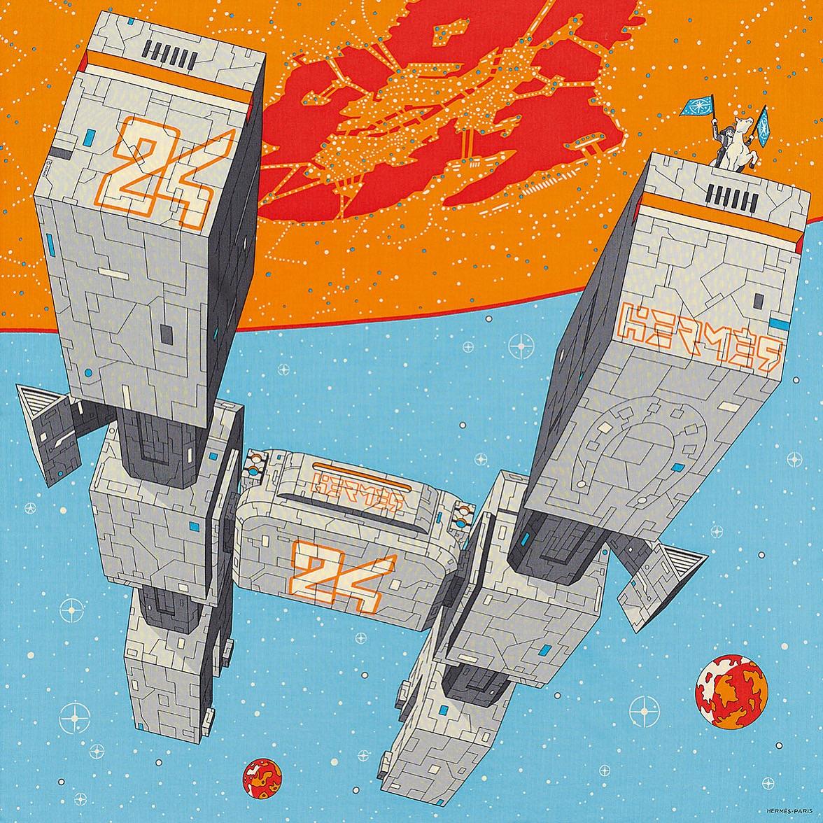 """""""エルメス・オデッセイ"""" エルメス メンズ SS2020 100x100cm, カシミア&シルク ーーーーー #デザイン #イラスト #テキスタイルデザイン #スカーフpic.twitter.com/0xgepxAM1i"""