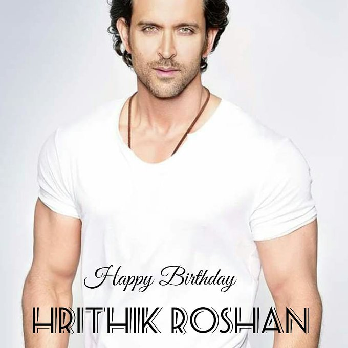 Sm Talent Management  Wishing a Verry Happy Birthday to Hrithik Roshan.  God bless you always.