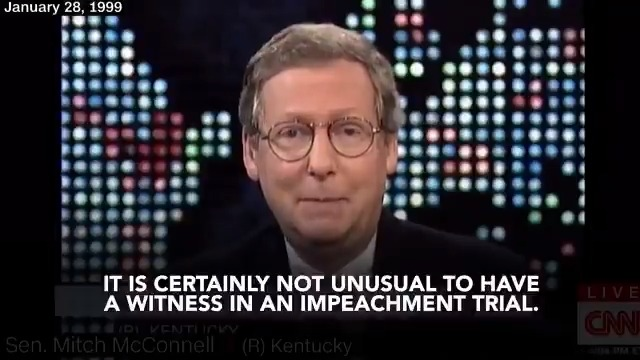 A Senate trial should be like any other trial. Senators should hear from witnesses. Senators should see the documents. Only then can they make the best possible decision regarding the Presidents misconduct. Once upon a time, Mitch McConnell felt the same.