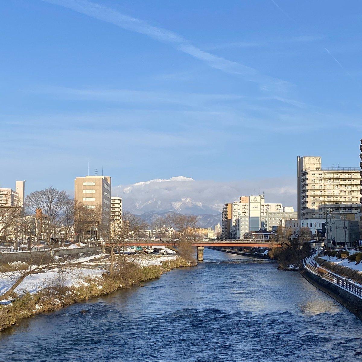 2020/01/10 盛岡市の開運橋から撮影。みなさま、体調管理に気をつけてお過ごしください。 #岩手 #盛岡 #北上川 #岩手山 #岩手においでよ #110番の日