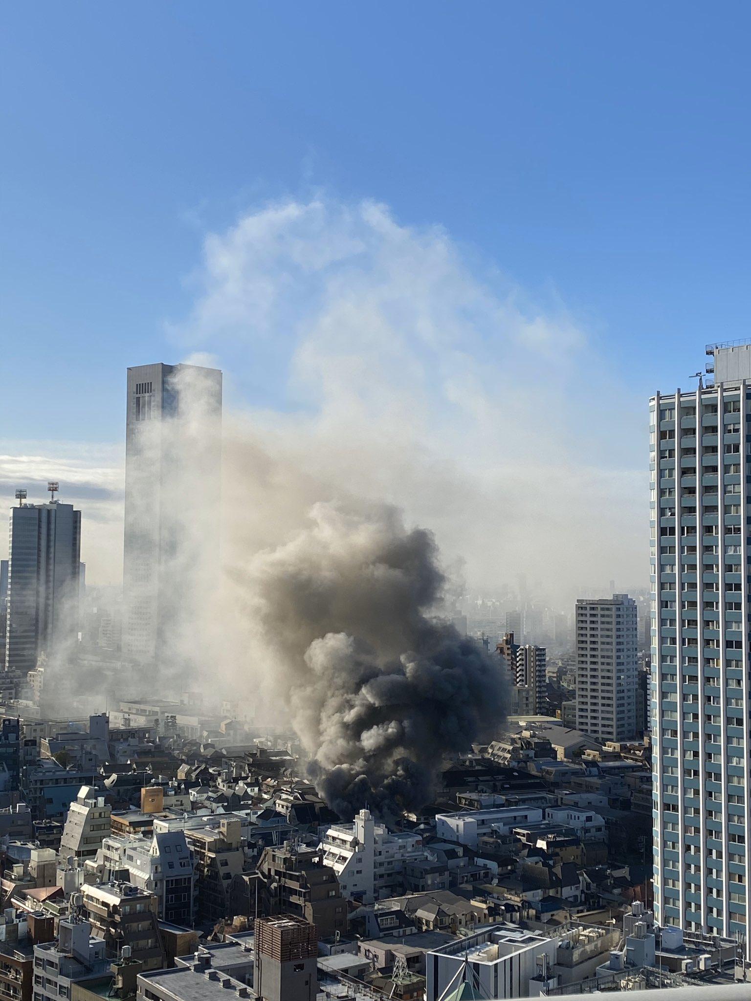 新宿の弁当店の火災現場の画像