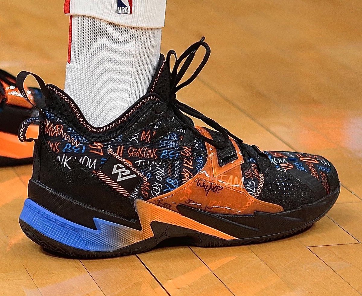 Russell Westbrook's Jordans for his