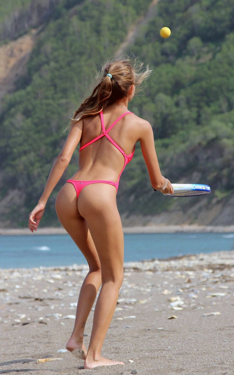 Platinum Blonde Teen Sheana Models Non Nude In A String Bikini