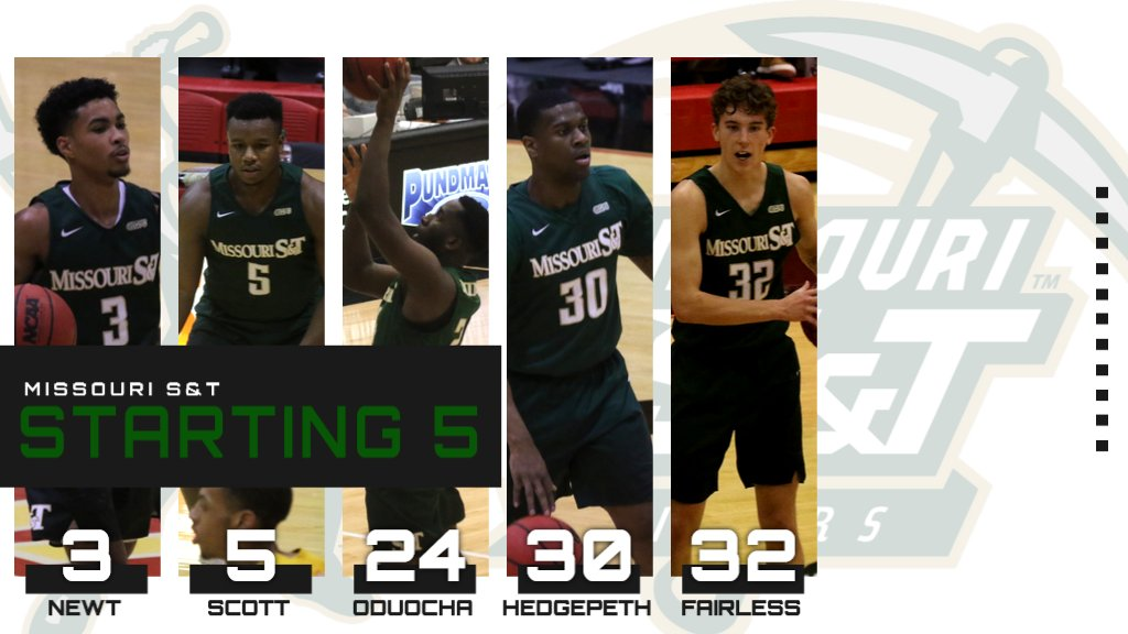 Here are tonight's starting five for @MST_MBB!