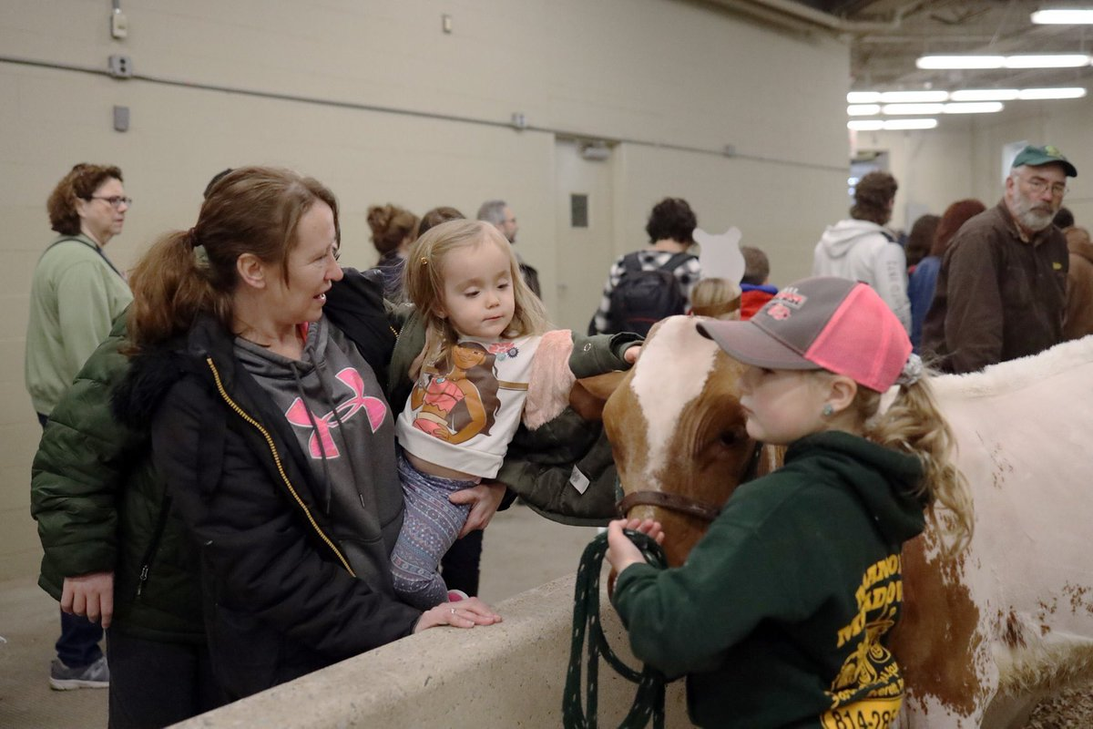 There's a simple joy that comes from touching a cow. #PAFS2020 #ImagineTheOpportunities