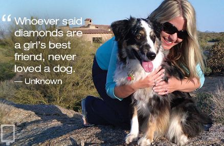 ' Whoever said diamonds are a girl's best friend, never loved a dog.'
