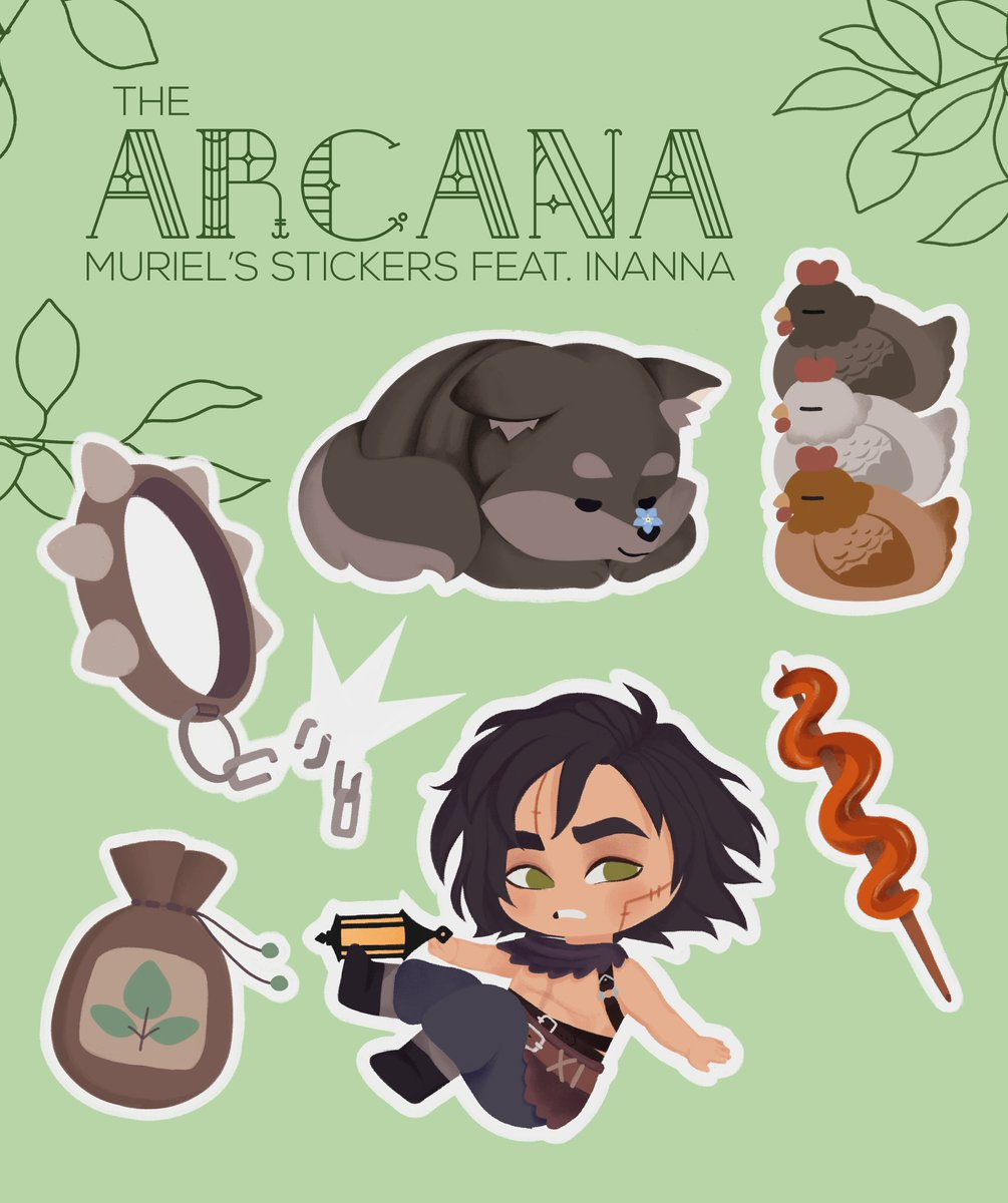 Here's smol Baby references of Muriel's route! (And some chickens.)   #TheArcanaGame #Murielfanart #thearcanafanart  #Murielthearcana #Inannathearcana #fanart #Stickers  #digitalpainting #Murielroute #thearcanafandom #chickenspic.twitter.com/k6FDmBj87T