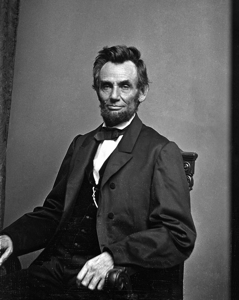 Abraham Lincoln by Mathew Brady, this week 1864: