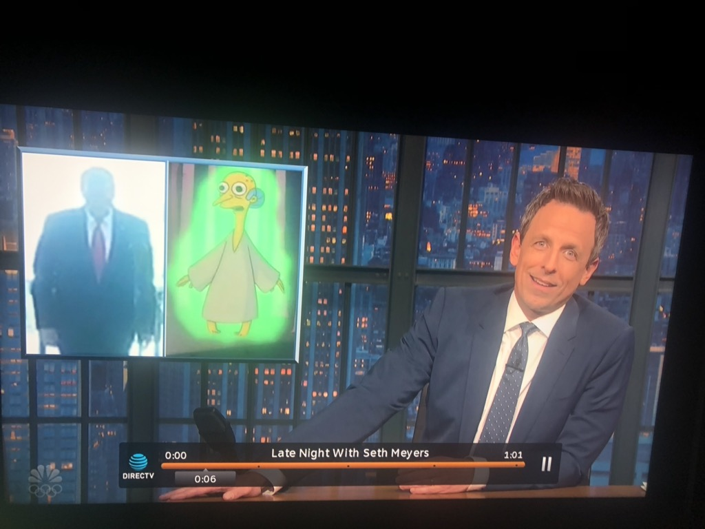 .@TheSimpsons Tonight on Seth Meyers The Springfield Files lives on...