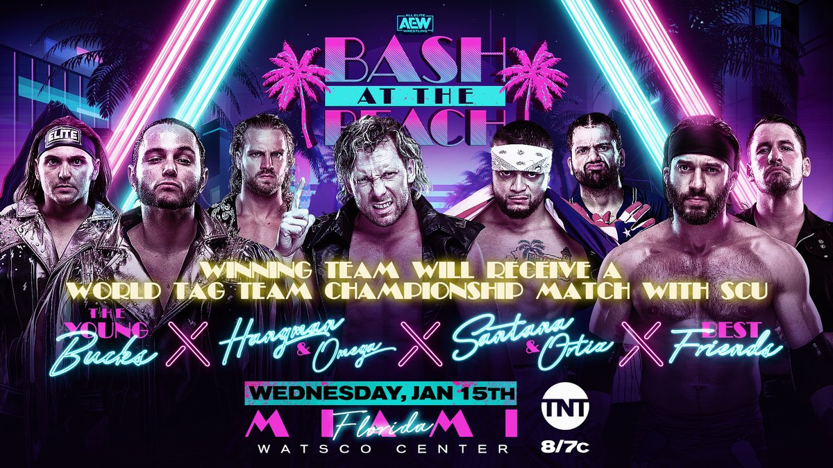 """No. 1 Contender Match Added To """"Bash At The Beach"""" Edition Of AEW Dynamite"""